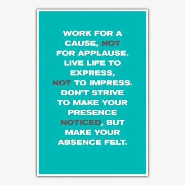 Work For A Cause Poster | Inspirational Posters For Offices
