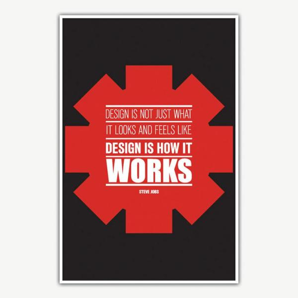 Steve Jobs Design Is How It Works Poster Art | Inspirational Posters For Offices