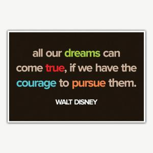 Walt Disney Dreams Quote Poster | Inspirational Posters For Offices