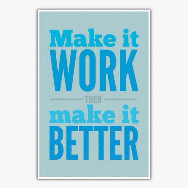 Make It Work Poster | Inspirational Posters For Offices