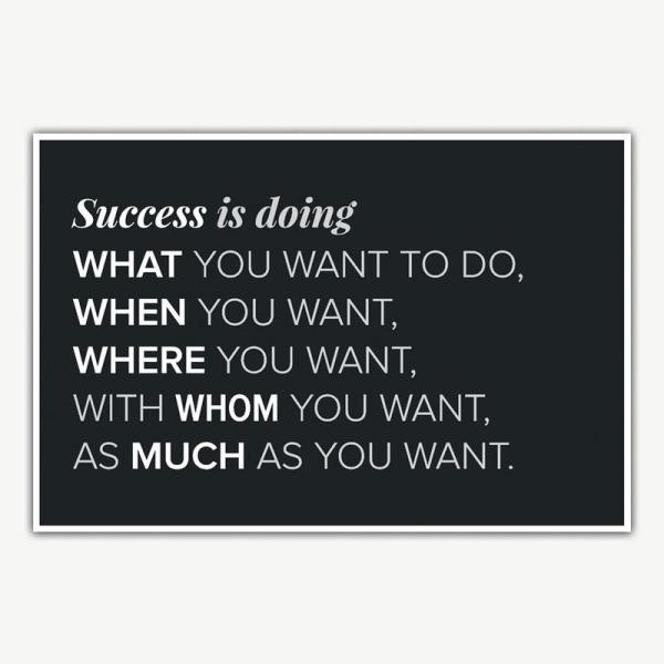 Success Quote Poster Art | Inspirational Poster