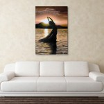 Canvas Painting - Beautiful Lady In Sea Wall Painting for Living Room