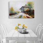 Canvas Painting - Beautiful Landscape Art Wall Painting for Living Room