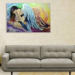 Canvas Painting - Beautiful Angel Art Wall Painting for Living Room