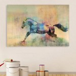 Canvas Painting - Beautiful Horse Running Art Wall Painting for Living Room