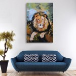 Canvas Painting - Beautiful Lion Wildlife Art Wall Painting for Living Room