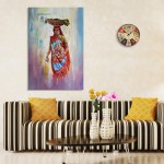 Canvas Painting - Beautiful Lady In Village Art Wall Painting for Living Room