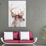 Canvas Painting - Beautiful Deer Wildlife Art Wall Painting for Living Room
