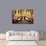 Canvas Painting - Beautiful Vintage Venice Italy Art Wall Painting for Living Room