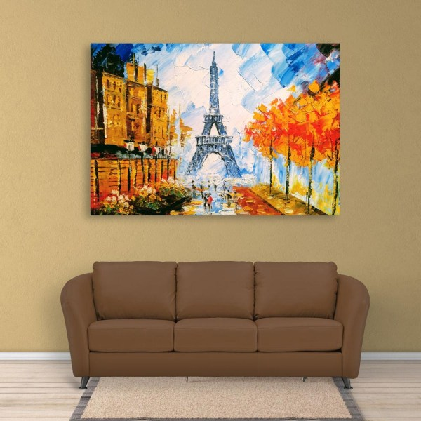 Canvas Painting - Beautiful Eiffel Tower Art Wall Painting for Living Room