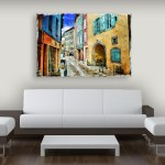 Canvas Painting - Beautiful Italy Art Wall Painting for Living Room