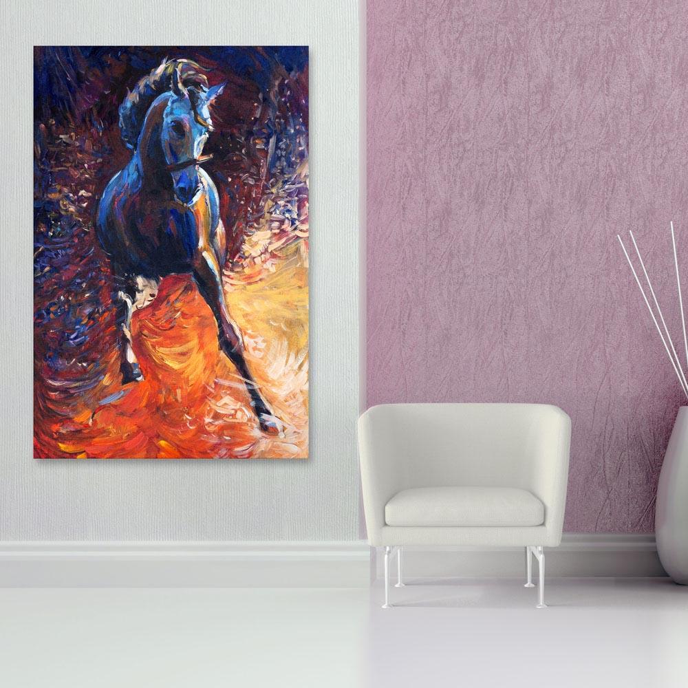 Beautiful Horse Art Vastu Wall Painting, Painting For Living Room Wall Vastu