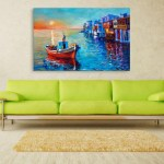 Canvas Painting - Beautiful Ship In Ocean Art Wall Painting for Living Room