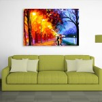 Canvas Painting - By The Lake Art Wall Painting for Living Room