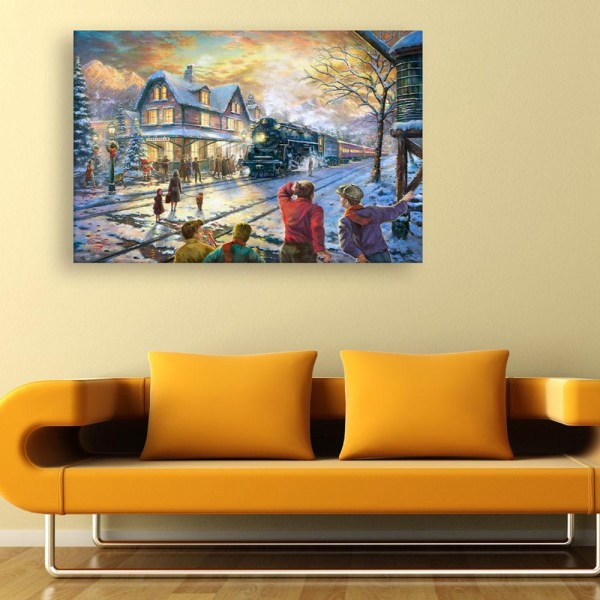 Canvas Painting - Beautiful City View Art Wall Painting for Living Room
