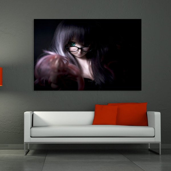 Canvas Painting - Beautiful Girl Art Wall Painting for Living Room