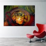 Canvas Painting - Beautiful Candle Lamp Art Wall Painting for Living Room