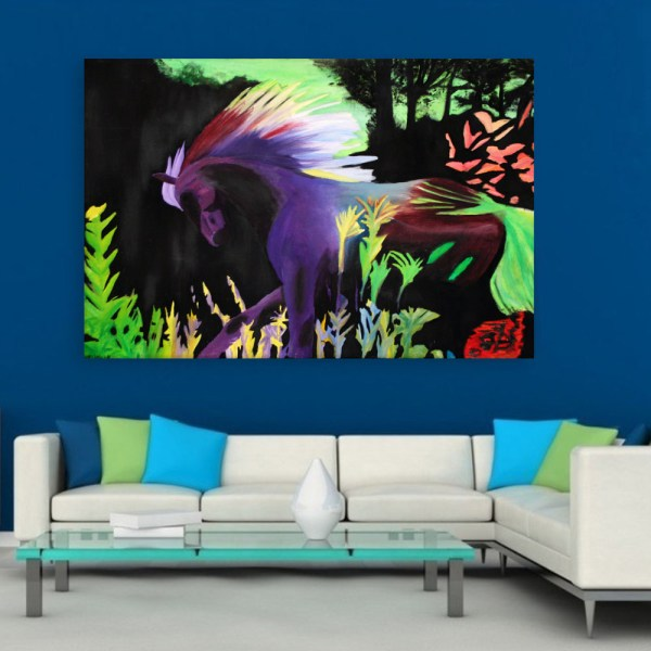 Canvas Painting - Beautiful Nature Illustration Art Wall Painting for Living Room