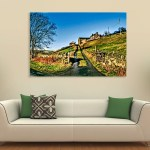 Canvas Painting - Beautiful Farm Scene Art Wall Painting for Living Room
