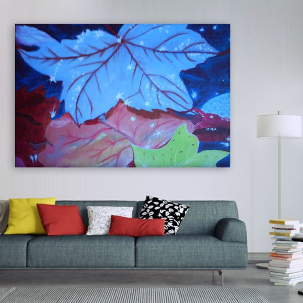 Canvas Painting - Beautiful Leaf Illustration Art Wall Painting for Living Room