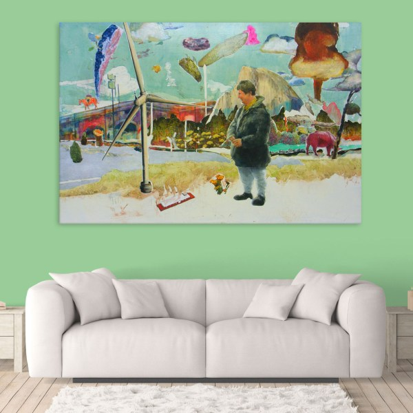 Canvas Painting - Beautiful Market Art Wall Painting for Living Room