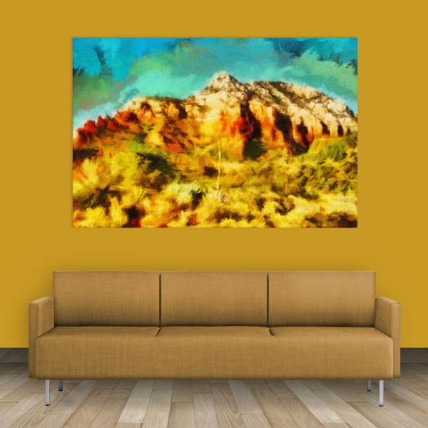 Canvas Painting - Beautiful Mountain Nature Art Wall Painting for Living Room