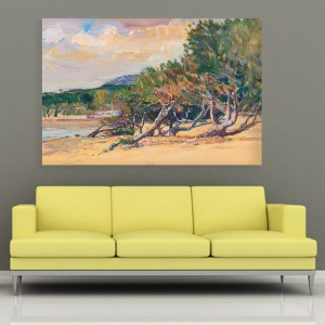 Canvas Painting – Beautiful Beach  Art Wall Painting for Living Room, Bedroom, Office, Hotels, Drawing Room (91cm X 61cm)