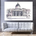 Canvas Painting - National Gallery London Illustration Art Wall Painting for Living Room