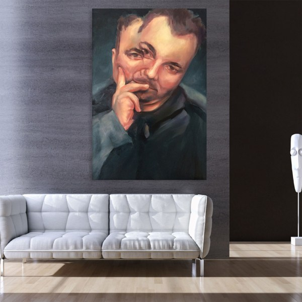 Canvas Painting - Two Faced Person Illustration Art Wall Painting for Living Room