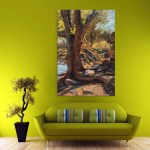 Canvas Painting - Beautiful Tree Art Wall Painting for Living Room