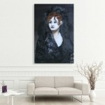Canvas Painting - Beautiful Lady Self Portrait Art Wall Painting for Living Room