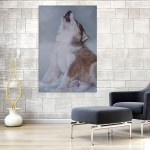 Canvas Painting - Beautiful Wolf Howling Art Wall Painting for Living Room