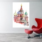 Canvas Painting - Kremlin Palace Illustration Art Wall Painting for Living Room