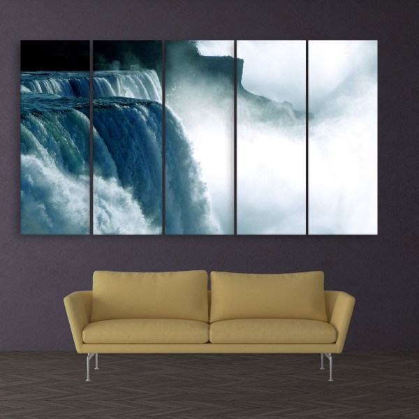 Multiple Frames Beautiful Waterfalls Wall Painting for Living Room