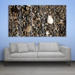 Multiple Frames Beautiful Stones Wall Painting for Living Room