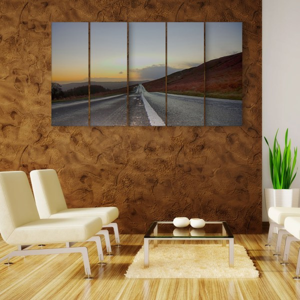 Multiple Frames Beautiful Road Wall Painting for Living Room