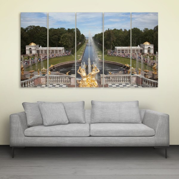 Multiple Frames Beautiful Architecture Wall Painting for Living Room