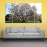 Multiple Frames Beautiful Tree Wall Painting for Living Room