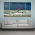 Multiple Frames Beautiful Sea Wall Painting for Living Room