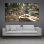 Multiple Frames Beautiful Plant Wall Painting for Living Room