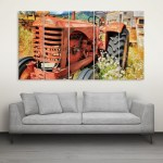 Multiple Frames Beautiful Farm Wall Painting for Living Room