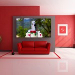Multiple Frames Beautiful Cake Wall Painting for Living Room
