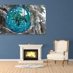 Multiple Frames Beautiful Winter Wall Painting for Living Room