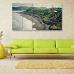 Multiple Frames Beautiful Island Wall Painting for Living Room