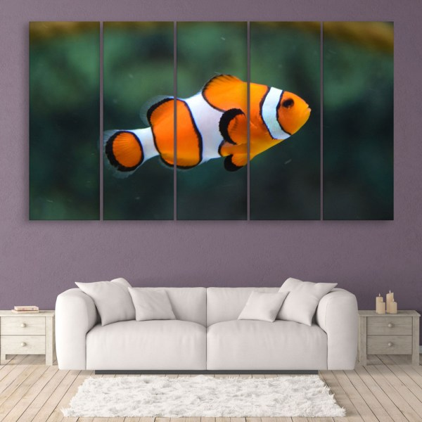 Multiple Frames Beautiful Fish Wall Painting for Living Room