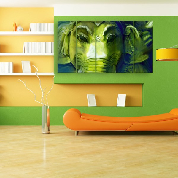Multiple Frames Beautiful Lord Ganesha Art Wall Painting for Living Room