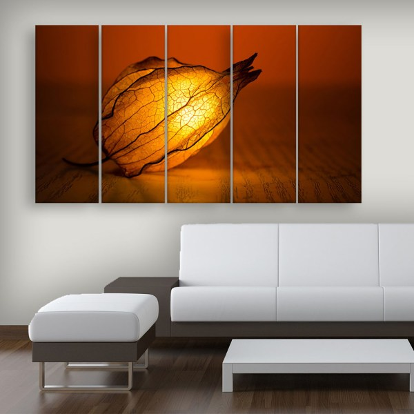 Multiple Frames Beautiful Lighting Flower Wall Painting for Living Room