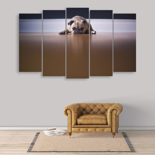 Multiple Frames Beautiful Dog Wall Painting for Living Room