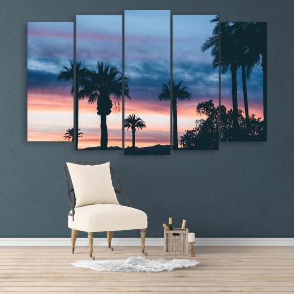 Multiple Frames Beautiful Trees Wall Painting for Living Room