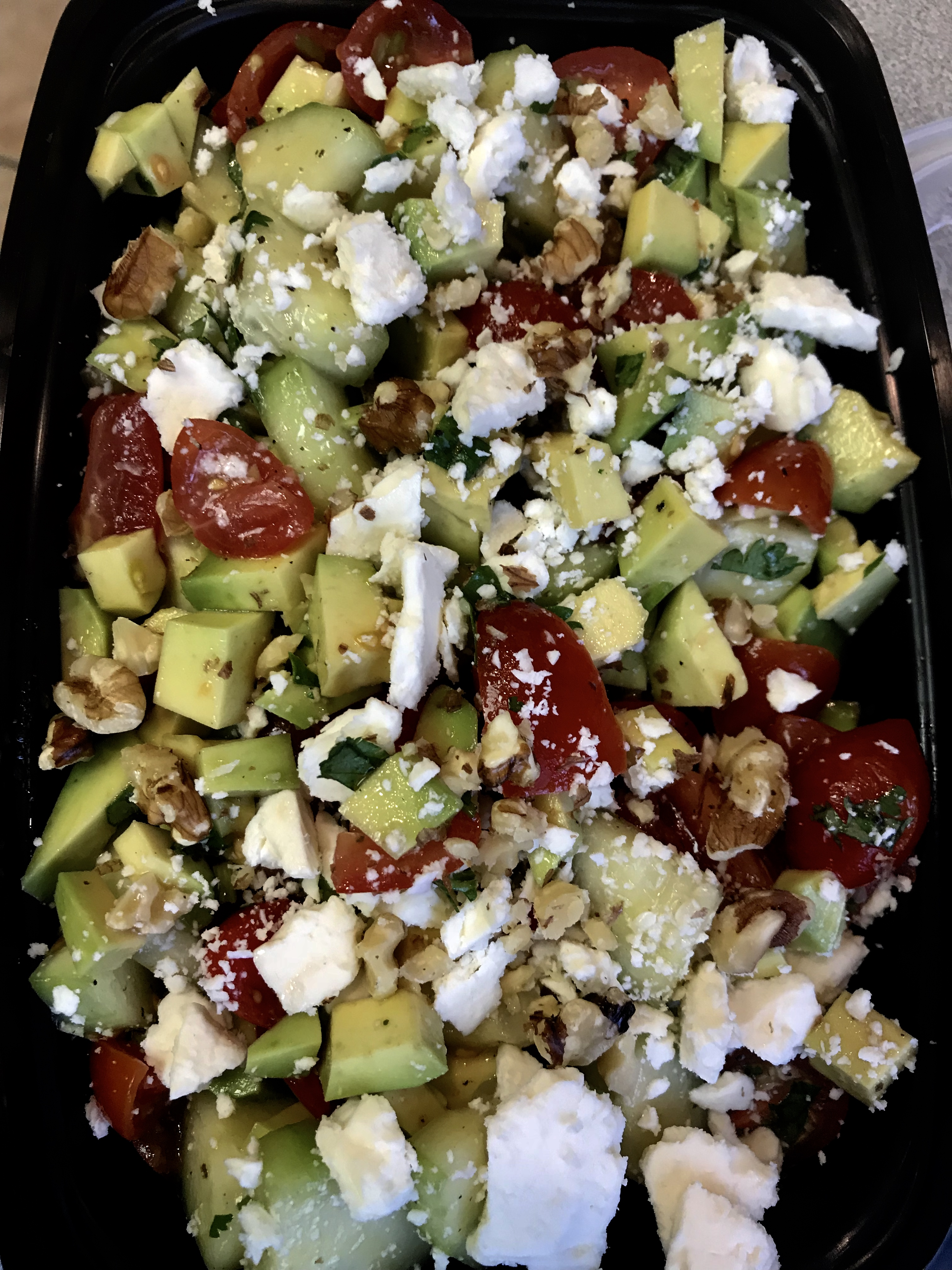 avocado, tomato and feta